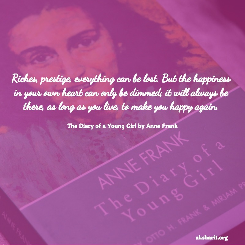 The Diary of a Young Girl by Anne Frank quotes 10