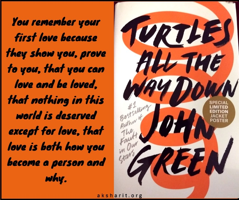 19 Turtles all the way down by John Green Quotes
