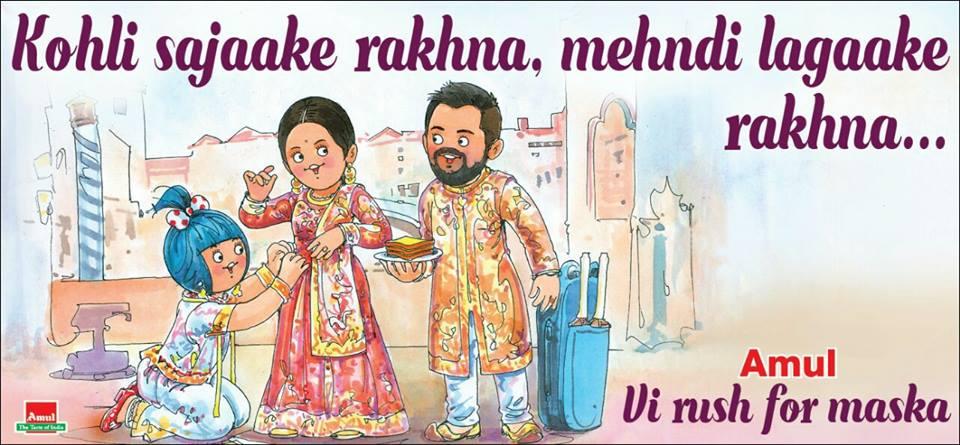 Amul Anushka Virat Kohli Wedding Marriage Virushka